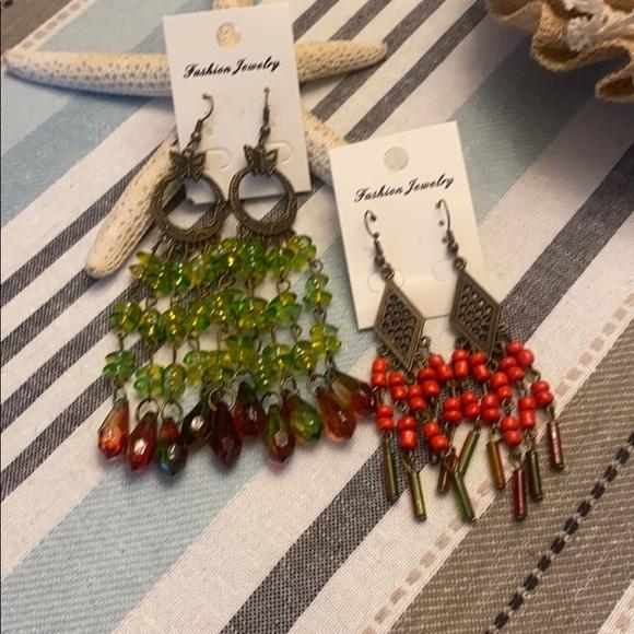 2 pairs Fashion Chandelier earrings
